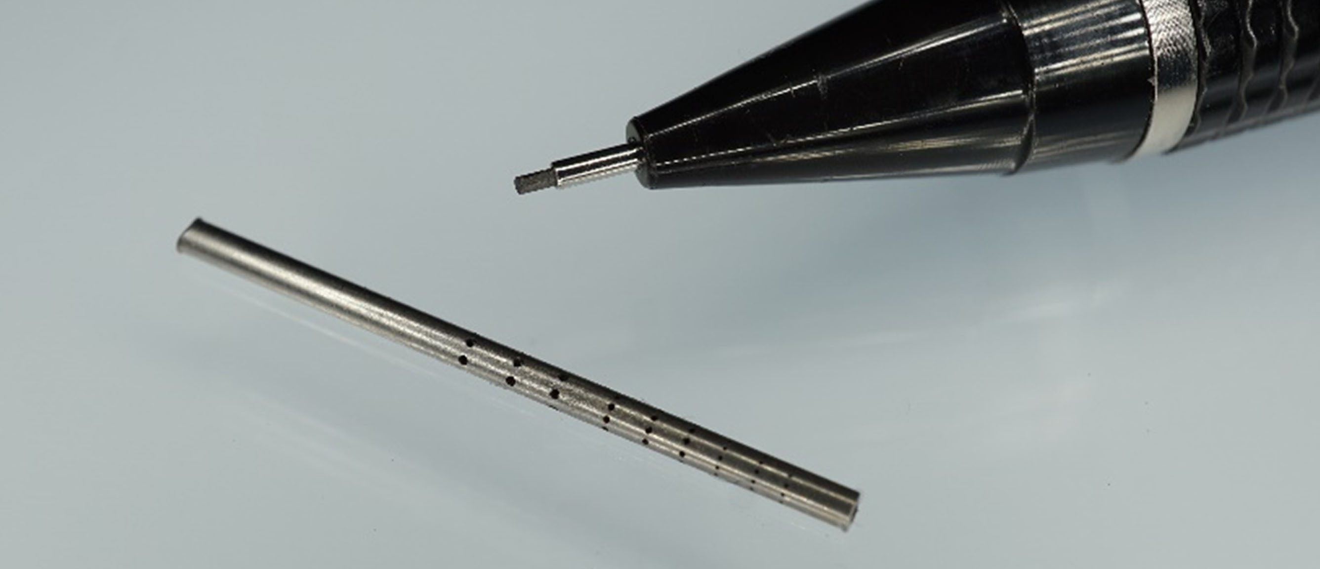 Visual representation of test cut stainless-steel tube